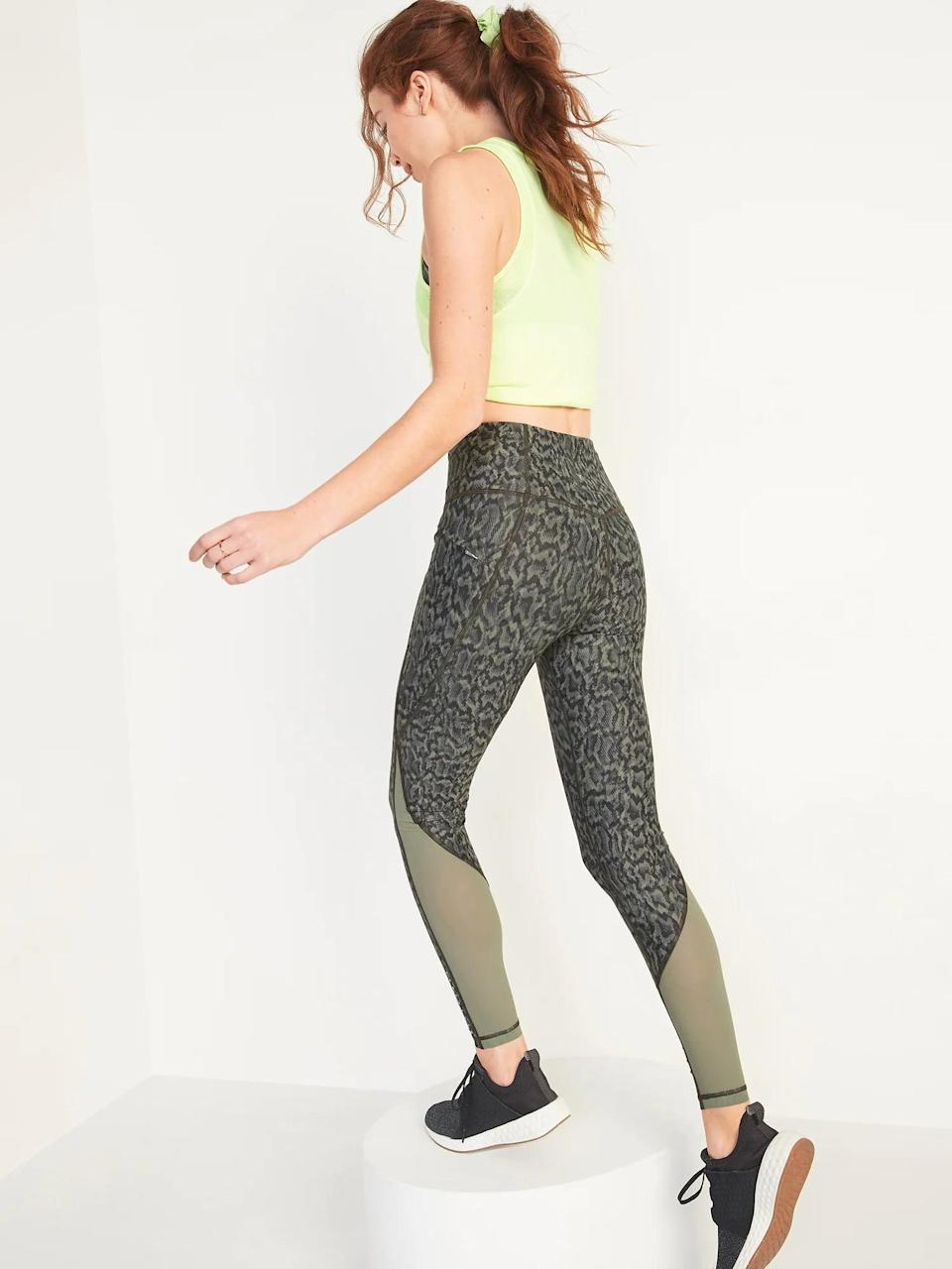 <p>Hit the streets on an outdoor jog thanks to these vented <span>Old Navy High-Waisted PowerSoft Run Leggings</span> ($16-$35, originally $45) with a zippered pocket, too.</p>