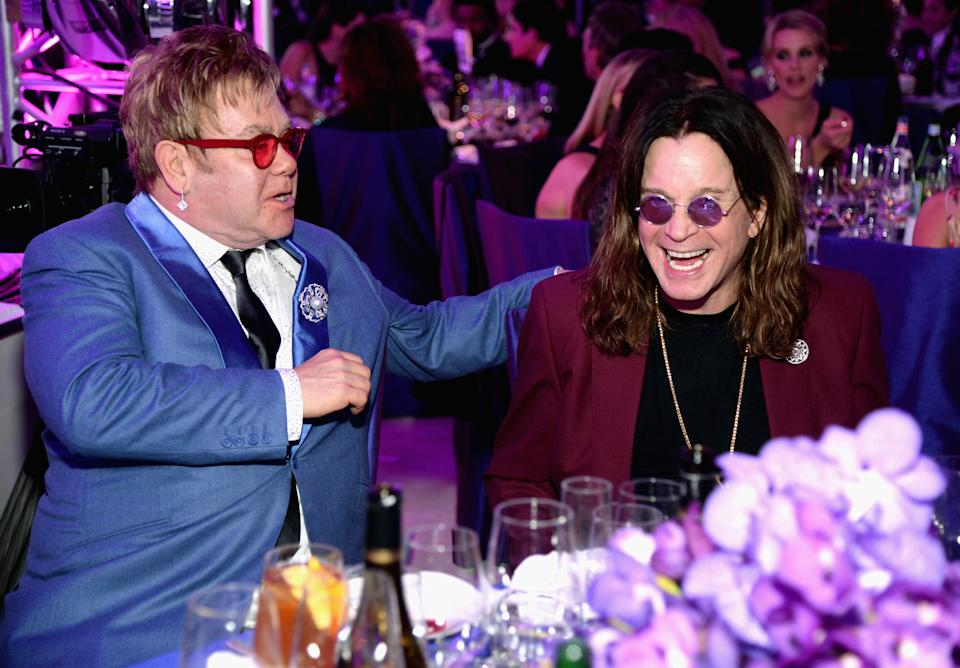 Ozzy Osbourne and Sir Elton John at the 23rd Annual Elton John AIDS Foundation Academy Awards Viewing Party in 2015. (Photo: Michael Kovac/Getty Images for EJAF)