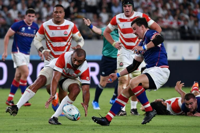 Japan's flanker Michael Leitch was everywhere in the opening game