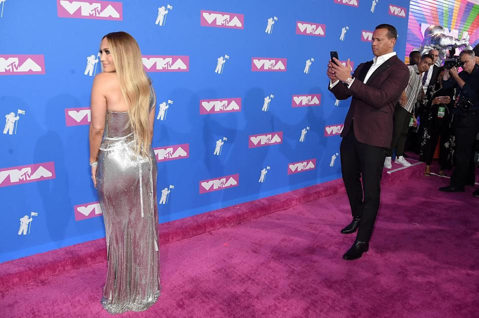 "<h1 class=""title"">Jennifer Lopez and Alex Rodriguez at 2018 MTV Video Music Awards</h1><cite class=""credit"">Jamie McCarthy/Getty Images</cite>"