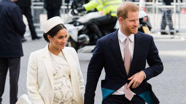 PHOTO: Prince Harry, Duke of Sussex and Meghan, Duchess of Sussex attend the Commonwealth Day service at Westminster Abbey, March 11, 2019, in London. (Samir Hussein/Samir Hussein/WireImage/Getty Images, FILE)