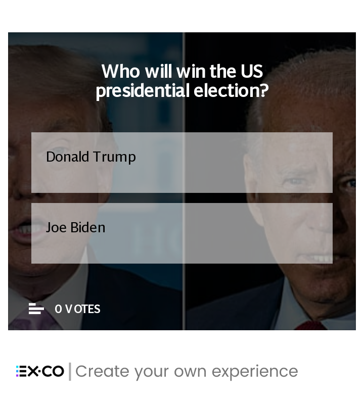US presidential election poll Donald Trump Joe Biden