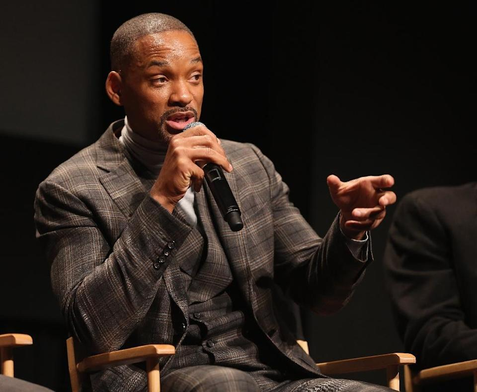 """Will Smith attends The Academy Of Motion Picture Arts And Sciences discussion about the movie """"Concussion"""" on December 16, 2015 in New York City (AFP Photo/Robin Marchant)"""