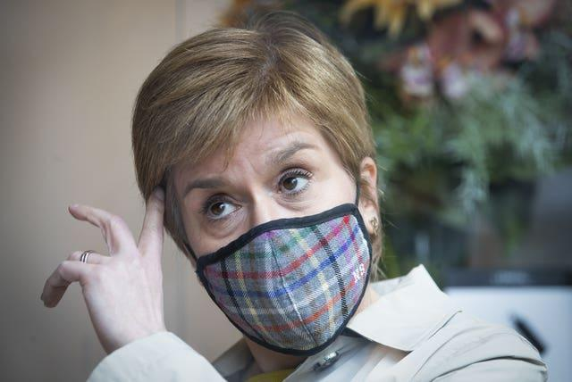 First Minister and leader of the SNP Nicola Sturgeon