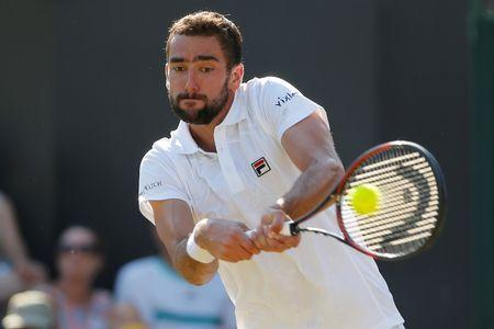 Tennis - Wimbledon - London, Britain - July 5, 2017   Croatia's Marin Cilic in action during his second round match against Germany's Florian Mayer       REUTERS/Andrew Couldridge