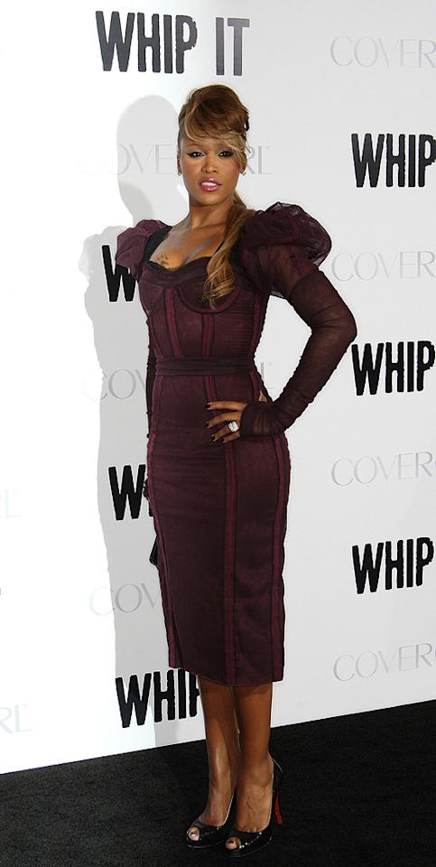 """<a href=""""http://movies.yahoo.com/movie/contributor/1808488004"""">Eve</a> at the Los Angeles premiere of <a href=""""http://movies.yahoo.com/movie/1810036665/info"""">Whip It!</a> - 09/29/2009"""