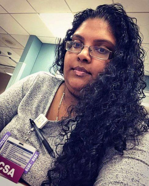 PHOTO: Prea Nankieshore, 34, worked in the emergency department at Long Island Jewish Hospital Forest Hills in New York. She died from complications of COVID-19, April 5, 2019, according to her fiance, Marcus Khan. (Courtesy Marcus Khan)