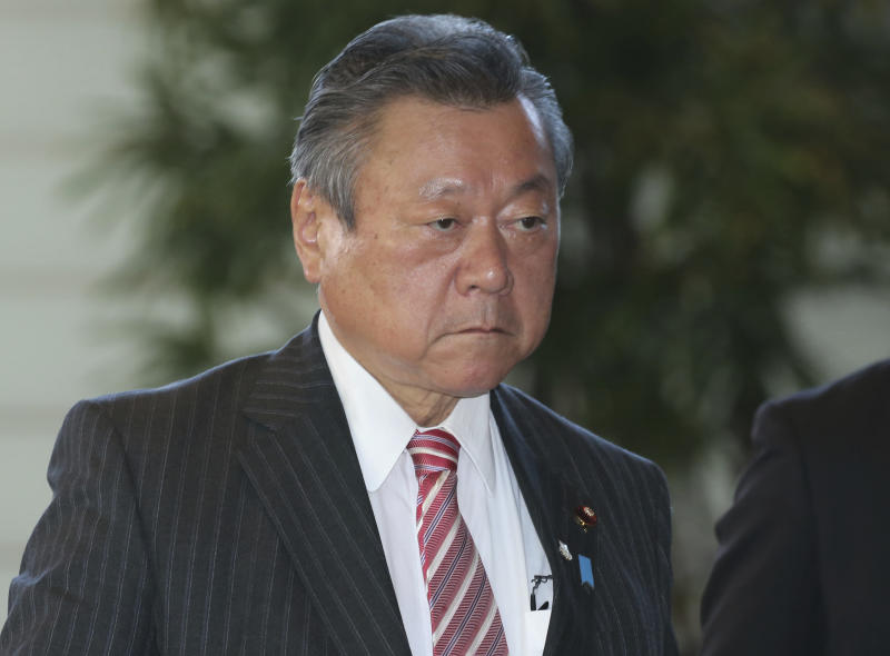 Yoshitaka Sakurada may be Japan's new minister in charge of cybersecurity, but he doesn't actually use computers. (ASSOCIATED PRESS)
