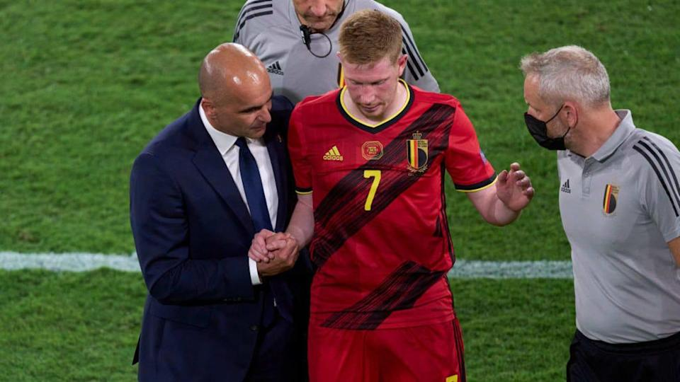 Roberto Martinez e Kevin De Bruyne | Quality Sport Images/Getty Images