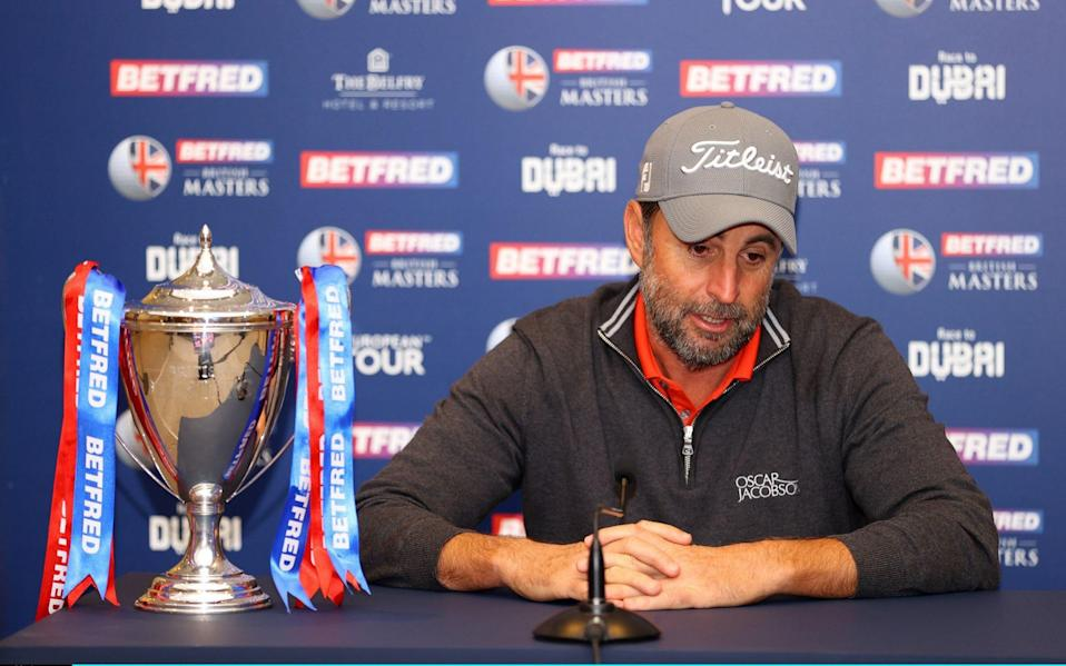 It was an emotional Richard Bland who faced the press after his heart-warming win - GETTY IMAGES