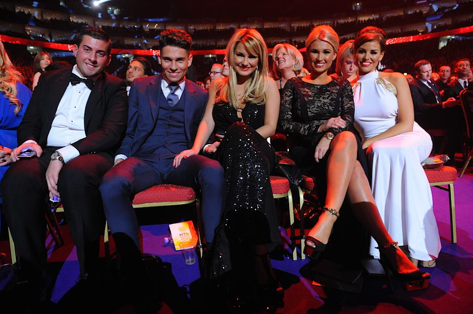 James Argent, Joey Essex, Sam Faiers, Billie Faiers and Jessica Wright during the 2013 National Television Awards at the O2 Arena, London. (Photo by Ian West/PA Images via Getty Images)