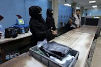 Of the more than 80 women working at the airport before Kabul fell to the Taliban on August 15, just 12 have returned to their jobs (AFP/Karim SAHIB)