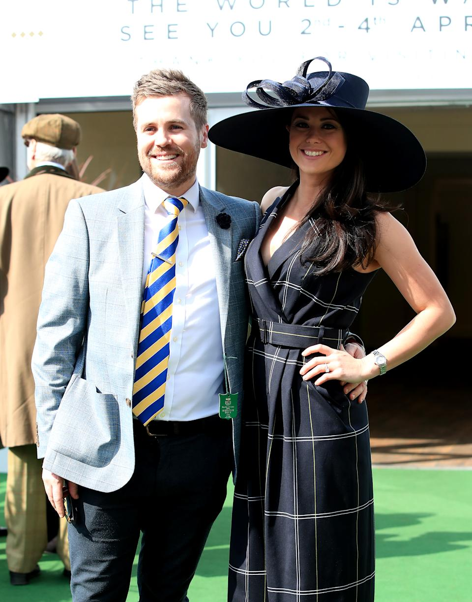 Sam Quek (right) with Tom Mairs (left) during Grand National Day of the 2019 Randox Health Grand National Festival at Aintree Racecourse. (Photo by Peter Byrne/PA Images via Getty Images)