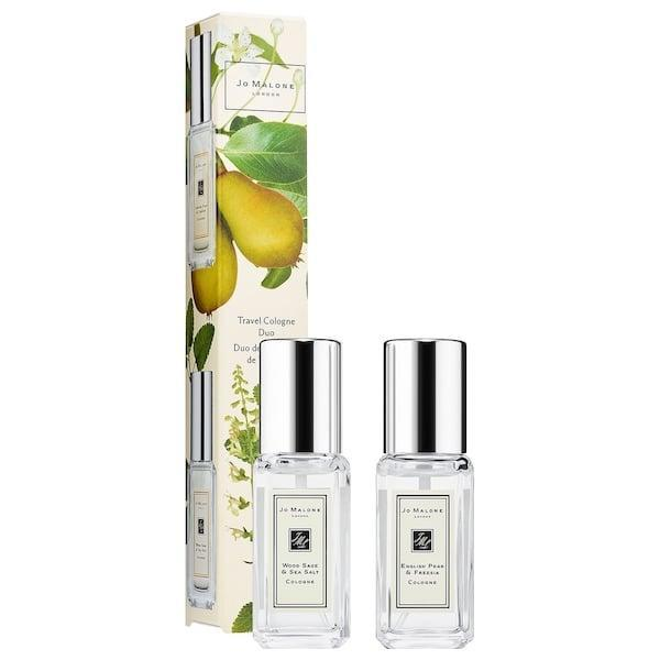 <p>They'll smell delicious thanks to this <span>Jo Malone London Wood Sage & Sea Salt/ English Pear & Freesia Mini Set</span> ($45).</p>