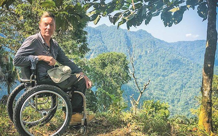 Gardner filming in Colombia in 2020 - BBC/Curious Films