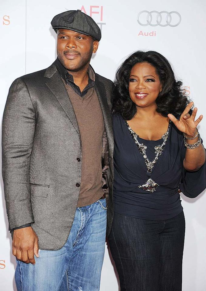 "They're both media moguls, so it only makes sense filmmaker Tyler Perry and media queen Oprah Winfrey would be pals. The two even shared executive producer credits for the 2009 Oscar winner ""Precious."" Jeffrey Mayer/<a href=""http://www.wireimage.com"" target=""new"">WireImage.com</a> - November 1, 2009"
