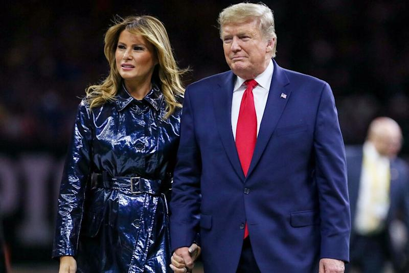 From left: First Lady Melania Trump and President Donald Trump in January | Jonathan Mailhes/CSM/Shutterstock