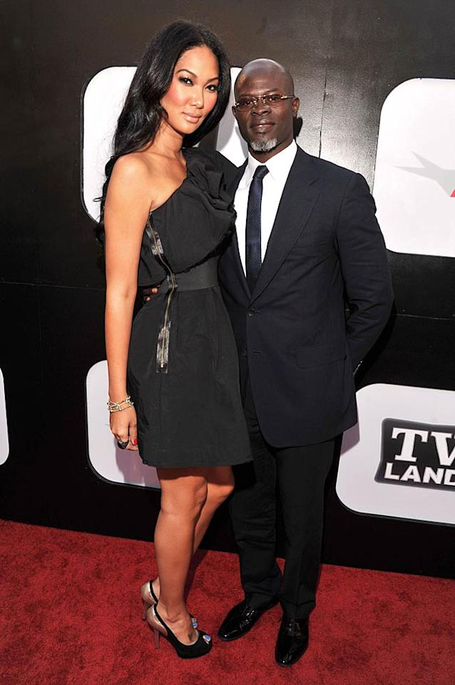 """Djimon Hounsou, who also appeared in """"Amistad,"""" came out for the festivities with wife Kimora Lee Simmons. Lester Cohen/<a href=""""http://www.wireimage.com"""" target=""""new"""">WireImage.com</a> - June 9, 2011"""