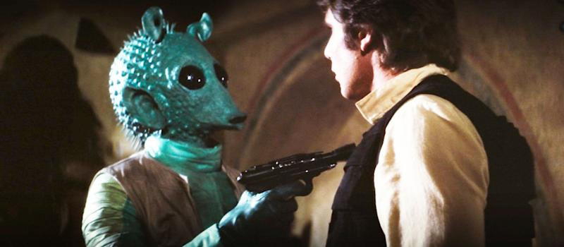 Greedo and Han in A New Hope (Credit: Lucasfilm/Disney)