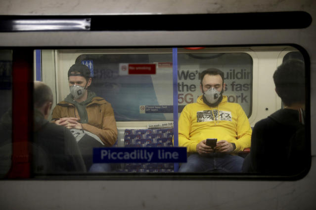 TfL has reduced its services by 50 per cent in recent days. (AP)