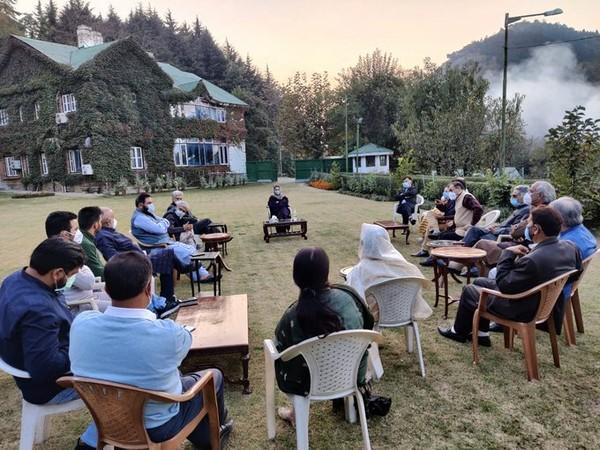 The meeting, which was conducted at the Fairveiw Guest House, was attended by top PDP leaders including former ministers and legislators. Photo/ANI