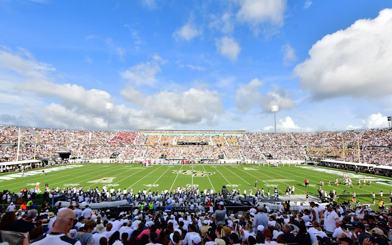 ORLANDO, FLORIDA - SEPTEMBER 14: A general view of Spectrum Stadium during the first half of a football game between the UCF Knights and the Stanford Cardinal on September 14, 2019 in Orlando, Florida. (Photo by Julio Aguilar/Getty Images)