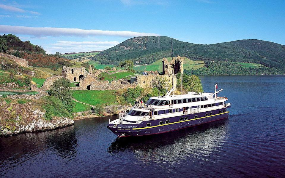 """<p>What better way to get to know more of Scotland than by lapping up the luxury of a yacht-style ship? If Loch Ness, Loch Nevis, the Sound of Mull, Iona, Eigg, Skye, Fort Augustus and Fort William are on your bucket list, you can see them all during a fantastic cruise around the Highlands and islands of Scotland in late June or in <a href=""""https://www.countrylivingholidays.com/tours/scottish-highlands-islands-luxury-yacht-autumn-cruise"""" rel=""""nofollow noopener"""" target=""""_blank"""" data-ylk=""""slk:2022"""" class=""""link rapid-noclick-resp"""">2022</a>.</p><p><strong>How to experience it:</strong> You can sail on the deluxe deluxe Lord of the Glens, exploring the endlessly beautiful Caledonian Canal, hidden sea lochs and the magical islands of Scotland's western shore.</p><p><a class=""""link rapid-noclick-resp"""" href=""""https://www.countrylivingholidays.com/tours/scottish-highlands-islands-luxury-yacht-spring-cruise"""" rel=""""nofollow noopener"""" target=""""_blank"""" data-ylk=""""slk:FIND OUT MORE"""">FIND OUT MORE</a></p>"""