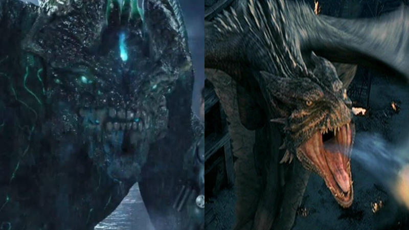 'Pacific Rim' and 'Reign of Fire'. (Credit: Warner Bros/Disney)