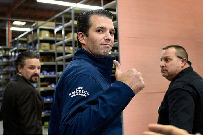 Donald Trump Jr will not be given security clearance, his father says. Image: Getty North America