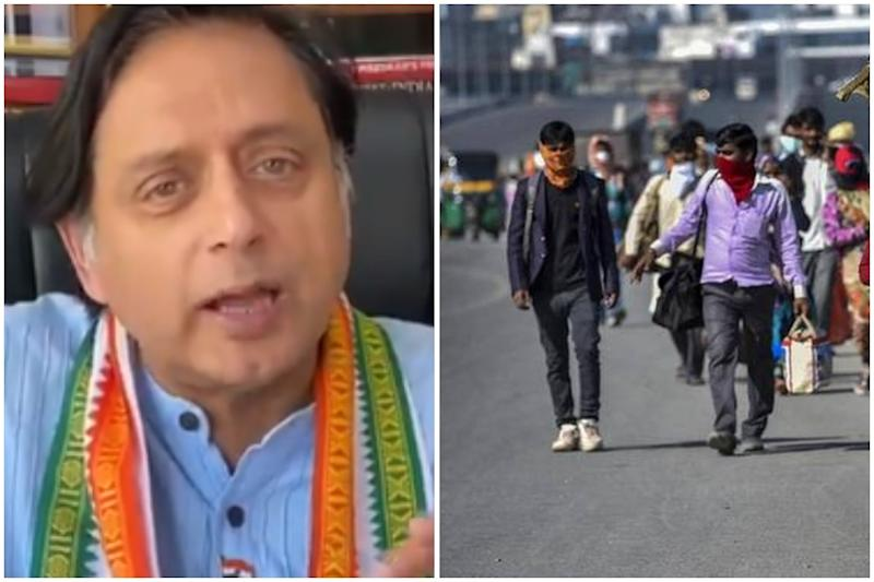 Shashi Tharoor Speaks Fluent Bengali to Request Migrant Workers from Bengal to Remain in Kerala