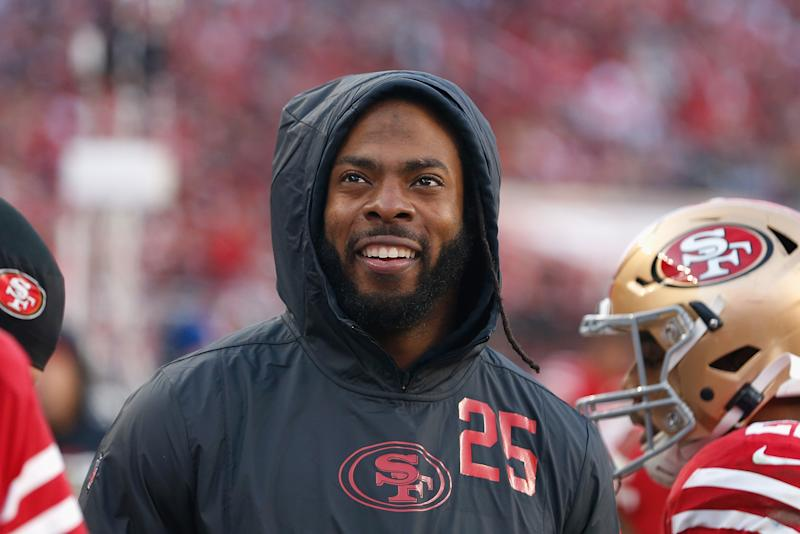 Richard Sherman had fun on Twitter on Friday calling out those who doubted him. (Lachlan Cunningham/Getty Images)