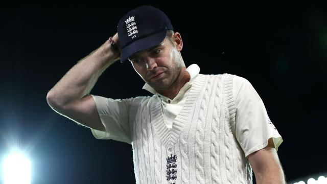 "James Anderson, England's Test vice-captain for the Ashes series, said the tourists batting collapse on day three was ""not ideal""."