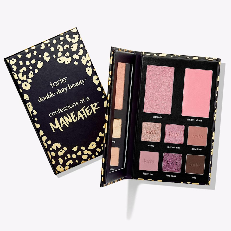 With its Confessions of a Maneater Eye & Cheek Palette, Tarte makes putting on eye makeup bogglingly simple. Just six dusky pink and plum shades sit inside this palette, so you'll never feel overwhelmed or confused about which shades to start with.