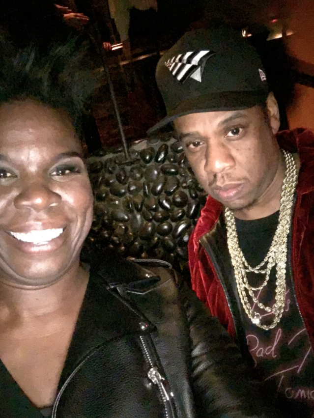 "<p>Jones was able to keep it together a bit better in a picture she shared of herself with Jay-Z (although maybe that's because she had practice in a <a href=""https://twitter.com/Lesdoggg/status/795136562107469824"" rel=""nofollow noopener"" target=""_blank"" data-ylk=""slk:picture she took with him last year"" class=""link rapid-noclick-resp"">picture she took with him last year</a>?). ""Jay Z is a lyrical beast!!!"" she tweeted with the picture. ""Thanks for the pic!! Again soooo nervous!!"" Yeah, but she's enjoying the hell out of herself, which makes us enjoy this picture even more. (Photo: <a href=""https://twitter.com/Lesdoggg/status/914417381493100544"" rel=""nofollow noopener"" target=""_blank"" data-ylk=""slk:Leslie Jones via Twitter"" class=""link rapid-noclick-resp"">Leslie Jones via Twitter</a>) </p>"