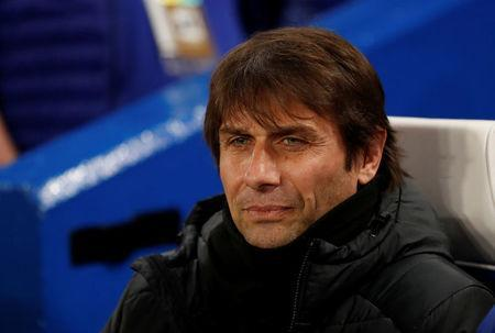 FILE PHOTO - Soccer Football - Champions League Round of 16 First Leg - Chelsea vs FC Barcelona - Stamford Bridge, London, Britain - February 20, 2018 Chelsea manager Antonio Conte . Action Images via Reuters/Andrew Boyers