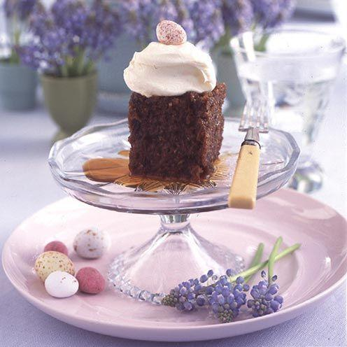 """<p>Serve this deliciously moist bake topped with mascarpone icing - the perfect finale for a dinner party.</p><p><strong>Recipe: <a href=""""https://www.goodhousekeeping.com/uk/food/recipes/spiced-carrot-and-walnut-pudding"""" rel=""""nofollow noopener"""" target=""""_blank"""" data-ylk=""""slk:Spiced carrot and walnut pudding"""" class=""""link rapid-noclick-resp"""">Spiced carrot and walnut pudding</a></strong><br><br><br><br></p>"""