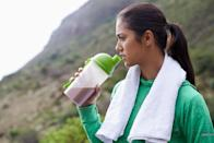 """<p>Whey protein is a popular protein powder supplement touted by trainers and bodybuilders. After all, it's a lean protein source that will help you feel fuller longer and build muscle. Unfortunately, it may cause breakouts.</p> <p>Dr. Shainhouse said that for some people, this protein source can trigger inflammation and acne flares. """"Whey, which comes from cow's milk, contains an insulin-like growth factor that stimulates the body's production of insulin and androgens,"""" she explained. """"The increased insulin and androgen production increases sebum production in the skin, resulting in acne. If you are an ingredient-reader, note that whey protein isolate is more problematic than whey protein concentrate.""""</p> <p>Better yet, switch to a <a rel=""""nofollow noopener"""" href=""""https://www.popsugar.com/fitness/Best-Vegan-Protein-Powder-Weight-Loss-45124529"""" target=""""_blank"""" data-ylk=""""slk:plant-based protein powder"""" class=""""link rapid-noclick-resp"""">plant-based protein powder</a> made with hemp, pea, bean, pumpkin, or other vegan ingredients. They still pack 20 to 30 grams of protein per serving and can help you meet your goals.</p>"""