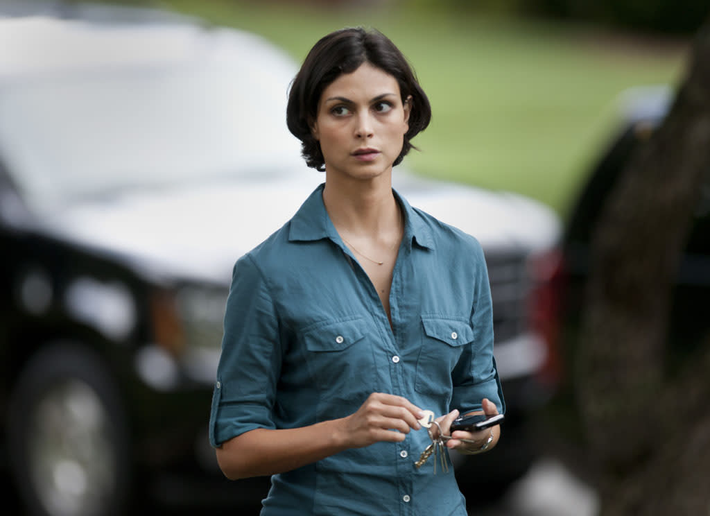 """Morena Baccarin as Jessica Brody in the """"Homeland"""" Season 2 episode, """"Q&A."""""""
