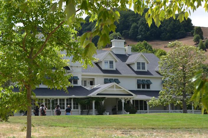 This July 21, 2014 photo shows a view of the house belonging to US filmmaker, director, screenwriter, producer, George Lucas at Skywalker Ranch located in Nicasio, California (AFP Photo/Veronique Dupont)