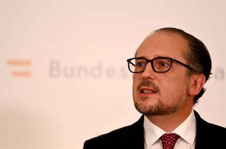 Schallenberg said his new office was an 'honour', albeit one 'I would never have expected or wished for' (AFP/Joe Klamar)