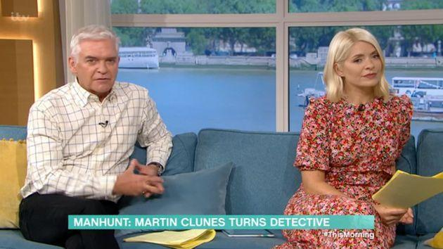 Phillip Schofield then stepped in to apologise for his guest's swearing (Photo: ITV)