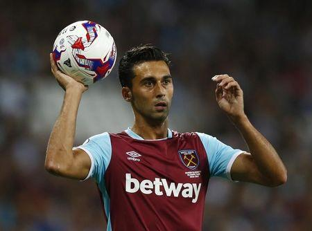 FILE PHOTO: Britain Football Soccer - West Ham United v Accrington Stanley - EFL Cup Third Round - London Stadium - 16/17 - 21/9/16 West Ham United's Alvaro Arbeloa  Action Images via Reuters / Peter Cziborra/Files