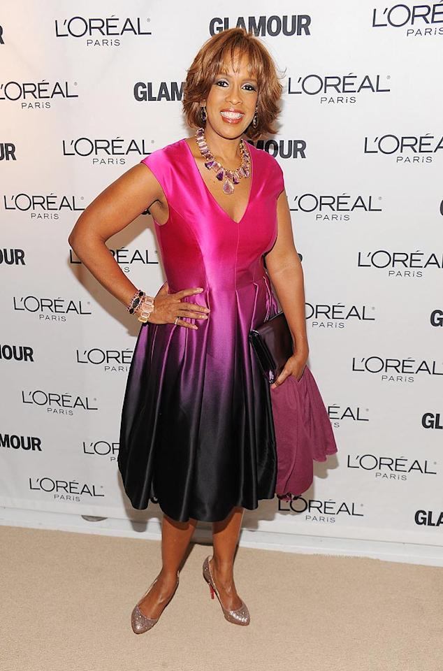 "Oh Gayle King, what were you thinking? A variegated purple frock is <i>never</i> a good look! Dimitrios Kambouris/<a href=""http://www.wireimage.com"" target=""new"">WireImage.com</a> - November 8, 2010"