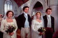 """<p>If you haven't seen the 1995 BBC miniseries adaptation of <strong>Pride and Prejudice</strong>, what are you waiting for? This incredible show paved the way for period dramas like <a href=""""https://www.popsugar.com/latest/Bridgerton"""" class=""""link rapid-noclick-resp"""" rel=""""nofollow noopener"""" target=""""_blank"""" data-ylk=""""slk:Bridgerton""""><strong>Bridgerton</strong></a> to be sexy, thanks in large part to Mr. Darcy's (<a class=""""link rapid-noclick-resp"""" href=""""https://www.popsugar.com/Colin-Firth"""" rel=""""nofollow noopener"""" target=""""_blank"""" data-ylk=""""slk:Colin Firth"""">Colin Firth</a>) impromptu dip in a lake.</p> <p><a href=""""https://www.hulu.com/series/bbdeec4e-ddf8-49e8-9152-28baea903902"""" class=""""link rapid-noclick-resp"""" rel=""""nofollow noopener"""" target=""""_blank"""" data-ylk=""""slk:Watch Pride and Prejudice on Hulu."""">Watch <strong>Pride and Prejudice</strong> on Hulu.</a></p>"""