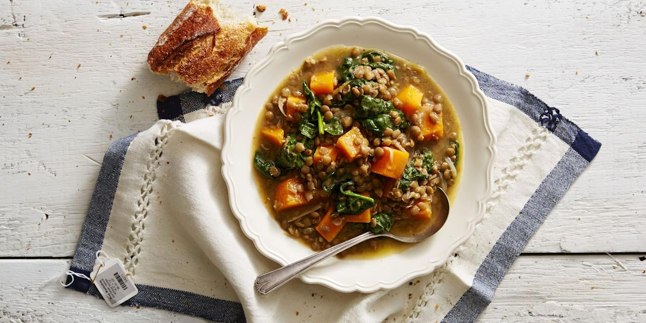"<p><a href=""http://www.goodhousekeeping.com/holidays/thanksgiving-ideas/"" target=""_blank"">Thanksgiving</a> is all about the company, the food (of course), and getting cozy after seconds or thirds. These butternut squash soups are the perfect way to kick off the biggest meal of the year (before you dive into the star of the show, <a href=""https://www.goodhousekeeping.com/food-recipes/cooking/a25238591/how-to-prepare-and-roast-a-turkey/"" target=""_blank"">the turkey</a>, of course). </p><p>While your guests aren't always thinking about the appetizer on Thanksgiving (let's be honest, we all really want the bird, <a href=""https://www.goodhousekeeping.com/food-recipes/a5166/traditional-bread-stuffing-herbs-1473/"" target=""_blank"">the stuffing</a>, even <a href=""https://www.goodhousekeeping.com/holidays/thanksgiving-ideas/g1202/thanksgiving-side-dishes/"" target=""_blank"">the veggies</a>), a hearty and warming butternut squash soup may become the dish that everyone looks forward to from this year on. While these butternut squash soup recipes are great for Thanksgiving, they're also a great go-to meal for any day of the fall season. Whether you're looking for an easy weeknight dinner for the whole family that you can pull together quickly or on the hunt for something impressive to cook for your friends, opt for these decadent yet healthy soups. Hunker down and cozy up for the fall and winter seasons with these comforting butternut squash soups (and don't forget to watch our <a href=""https://www.goodhousekeeping.com/food-recipes/cooking/tips/g2091/prepare-cook-butternut-squash/"" target=""_blank"">video of quick tips on butternut squash</a> preparation!).<br></p>"