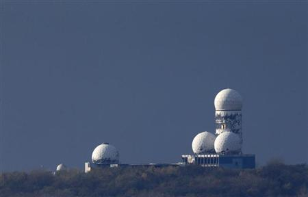 Antennas of the former NSA listening station are seen at the Teufelsberg hill or Devil's Mountain in Berlin