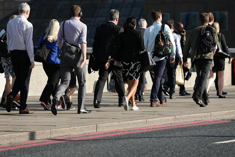 One in nine workers clock up 2.6 miles a day walking. (PA Archive/PA Images)