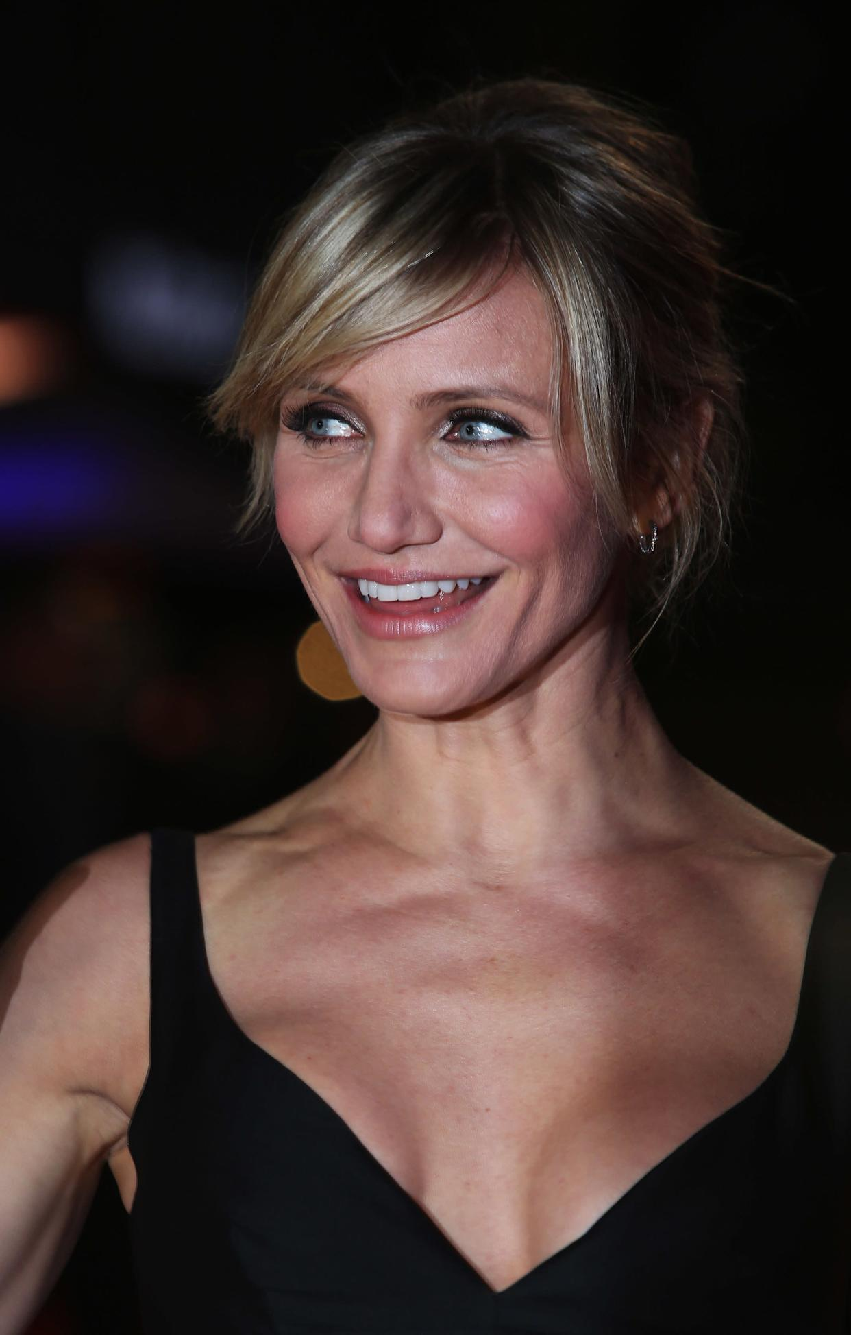 """""""The fountain of youth [for me], let's see...I guess it's exercise, healthy diet, lots of water, lots of laughter, lots of sex,"""" <a href=""""http://www.vogue.co.uk/news/2010/06/01/cameron-diaz-july-vogue-2010-cover"""" rel=""""nofollow noopener"""" target=""""_blank"""" data-ylk=""""slk:Diaz told Vogue in 2010"""" class=""""link rapid-noclick-resp"""">Diaz told Vogue in 2010</a>, adding, """"yes, sex, we need that as human beings. It's healthy, it's natural, it's what we are here to do!"""""""