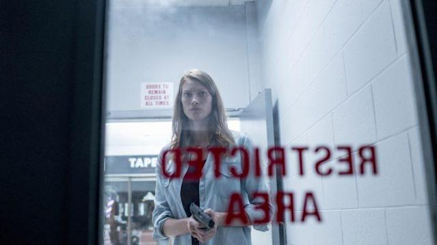Alyssa Sutherland stars as Eve Copeland in Spike TV's <em>The Mist,</em> based on a story by Stephen King.