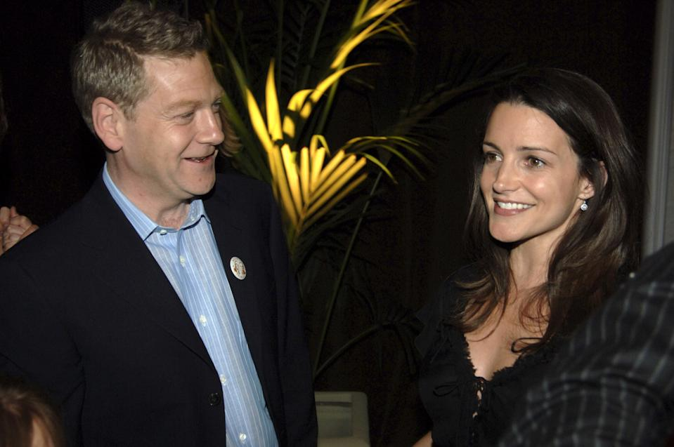Kenneth Branagh and Kristin Davis during HBO Films Presents Warm Springs Los Angeles Premiere - After Party at Egyptian Theatre in Los Angeles, California, United States. (Photo by Jeff Kravitz/FilmMagic, Inc)